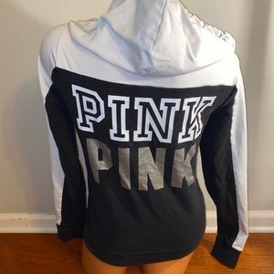 Pink Victoria's Secret black hoodie Small